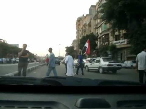 Driving from Riyada Square to Tahrir as mass protesters arrive.MPG