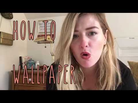 DIY MOM- HOW TO WALLPAPER (the fast way)