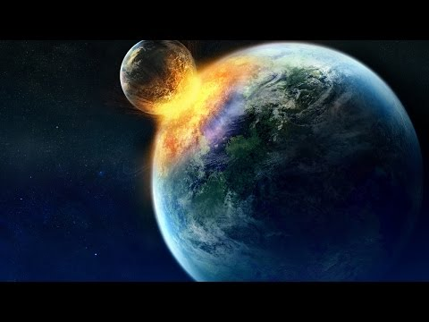 Что будет,  если Луна врежется в планету Земля ! ('звездный поцелуй')