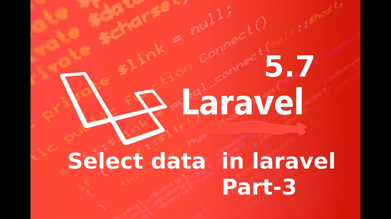 select data in laravel 5 7    raw sql queries in laravel part 3    laravel  master