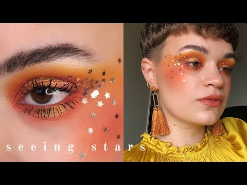 Festive Makeup Goes Editorial   Spicy Blush Draping & Stars