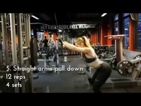7 EXERCISES FOR STRONG BACK   MY GYM WORKOUT