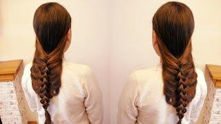 Воздушная коса. Причёска на себе. Очень просто. Видео-урок.