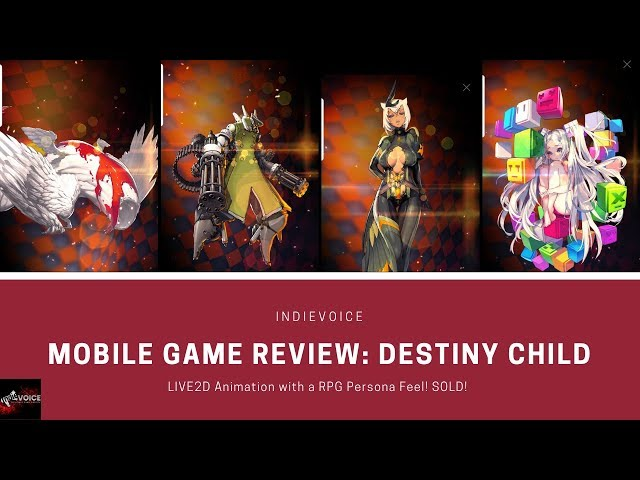 Mobile Game Review: Destiny Child - 2D Live Animation and Addictive gameplay SOLD!