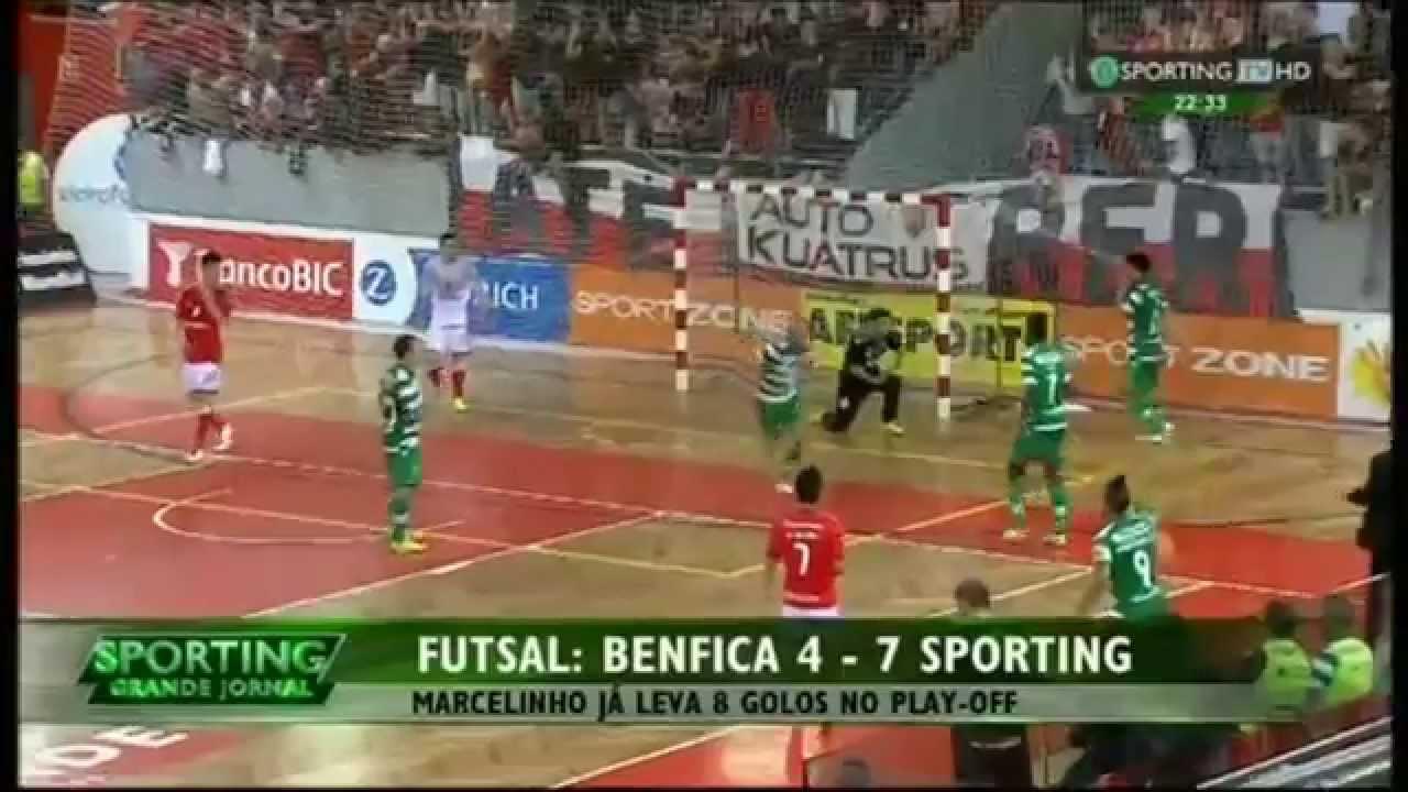 Futsal :: Play-off Final 2º Jogo :: Benfica - 4 x Sporting - 7 (após prolongamento) de 2014/2015