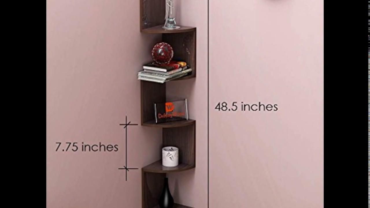 Corner Wall Shelf Unit A10 Shop Corner Wall Mount Shelf Unit Zigzag Shape Wenge Finish