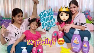 Daily Hair Grooming Routine of Mela&Mama ft. Johnson's Active Kids Strong & Healthy Shampoo