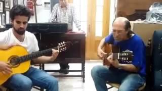 Roberto Godoy y Juan Ballesteros en mi taller