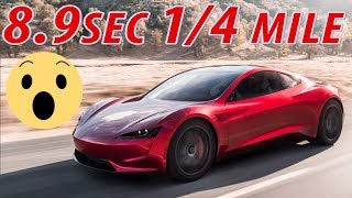 Tesla Roadster: Fastest Production Car in the World 8.9second 1/4mile & 1.9second 0-60mph
