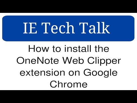 How to install the OneNote Web Clipper extension on Google
