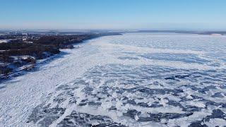 Кременчугское водохранилище с высоты птичьего полёта