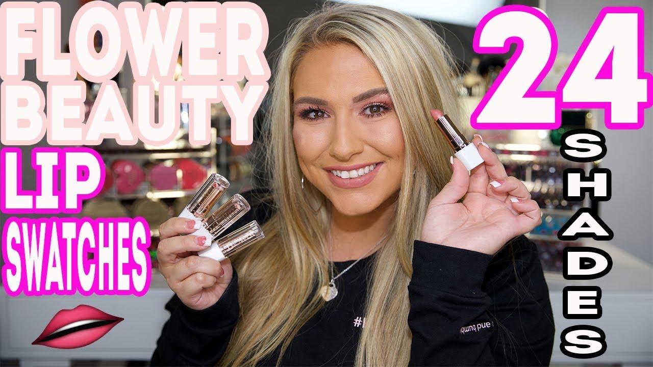 Flower beauty lip swatch video all 24 shades currently 30 off lipattitude flowerbeauty izmirmasajfo