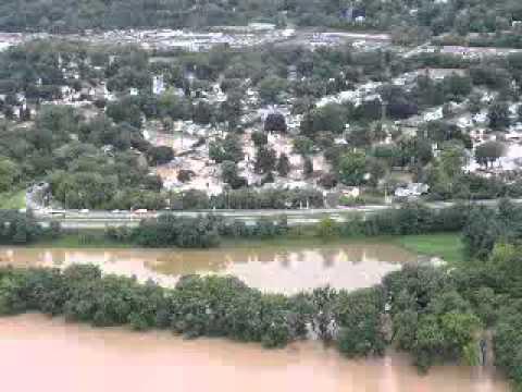 Binghamton NY Area Flood 2011 Aerial Shots