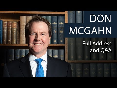 Don McGahn | Full Address and Q&A | Oxford Union