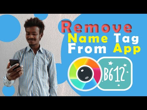 Sweet selfie camera and B612 camera name remove Any app