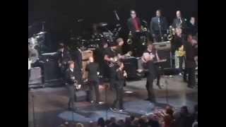 The Beatles Ringo Starr and Paul McCartney onstage together at Rock & Roll Hall of Fame Induction