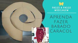 Aprenda fazer Babado caracol – Um detalhe lindo para suas peças – Super fácil