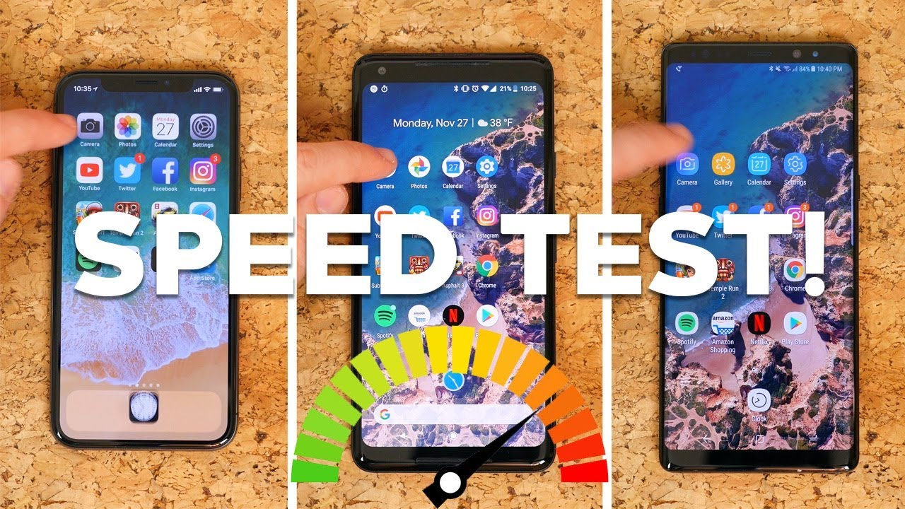 speed test iphone x vs pixel 2