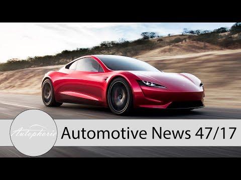 NEWS: Tesla Roadster II, Opel Zukunftsplan, Corvette ZR1, Elektro-Beetle - Autophorie