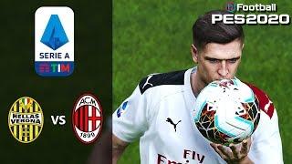 Hellas Verona vs AC Milan - Serie A - Prediction - PES 2020