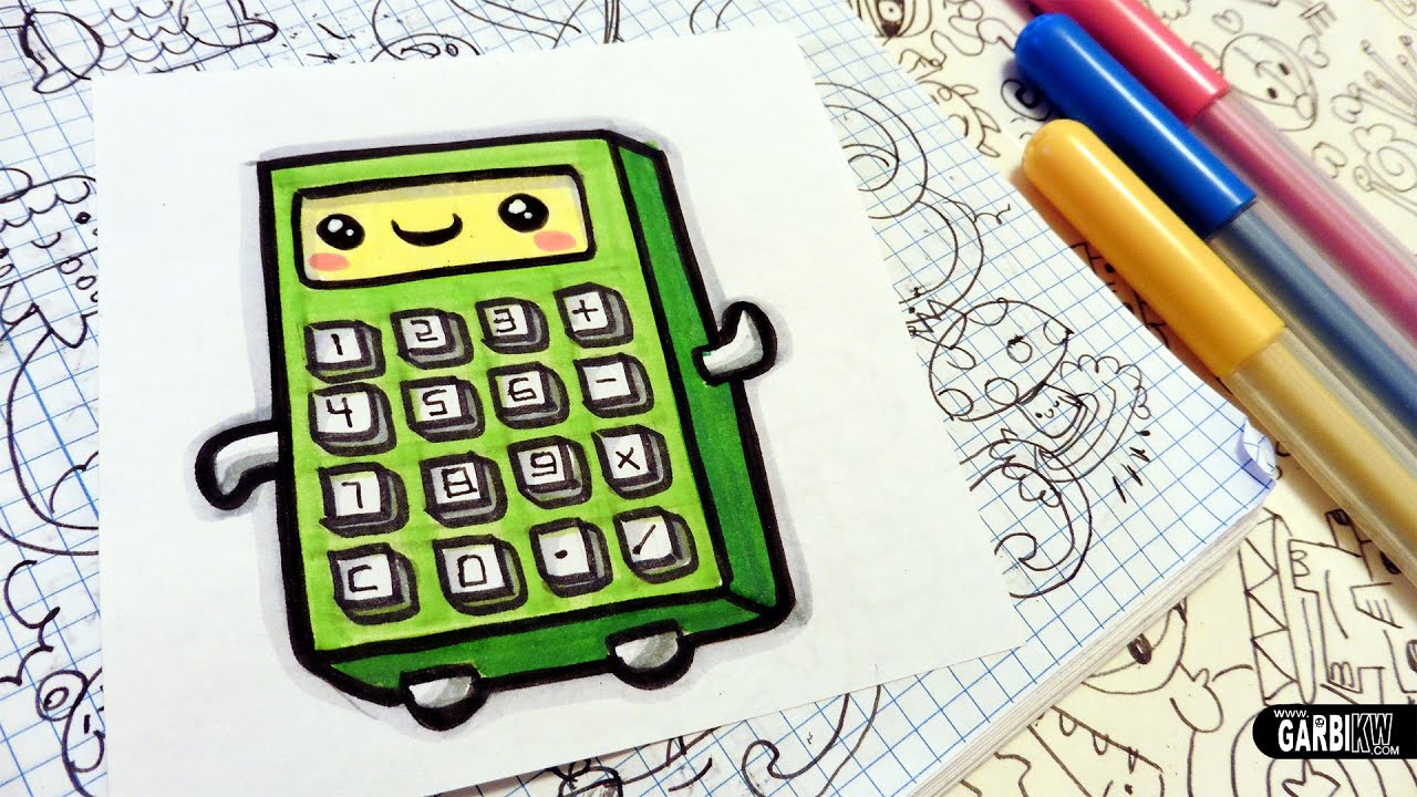 How To Draw A Cute Calculator Easy And Kawaii Drawings By Garbi Kw
