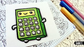 How To Draw a Cute Calculator - Easy and Kawaii Drawings by Garbi KW