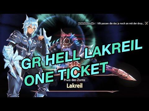 King's Raid - GR Hell Lakreil [ft. Gladi] one ticket