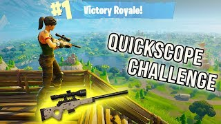 QUICKSCOPE CHALLENGE! | FORTNITE FRIDAY | BEST MOMENTS | FORNITE BATTLE ROYALE