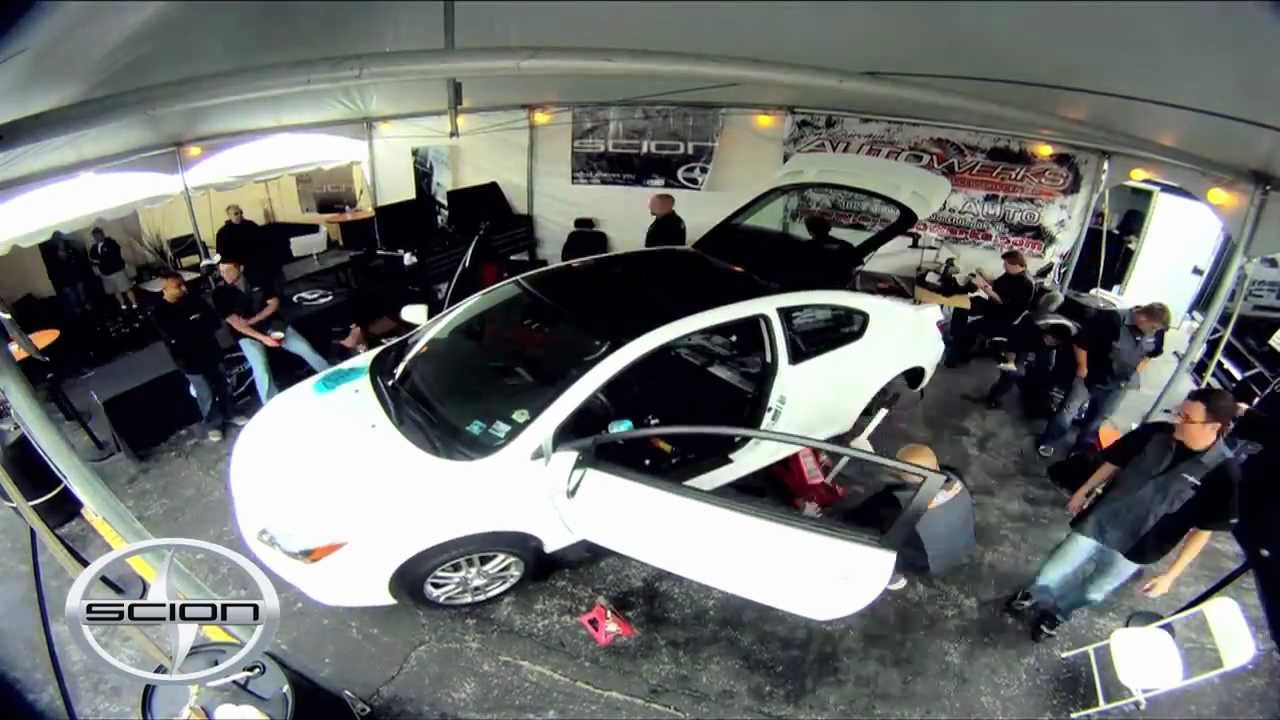 Tricked Out Scion Tc >> Scion Tc Gets Tricked Out In 6 Hours At Summerbash By Auto Werks Of