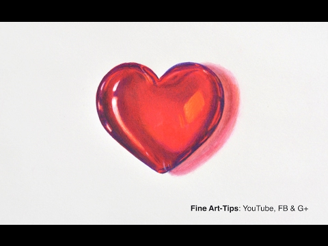 How to Draw a Crystal Heart - Saint Valentine's DIY - 3D