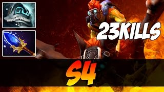 s4 Plays Batrider WITH AGHANIM'S SCEPTER - 23 KILLS - Dota 2