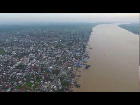 Tembilahan Inhil Riau by Camera Drone #Morningsight #Riau #DjiPhantom4