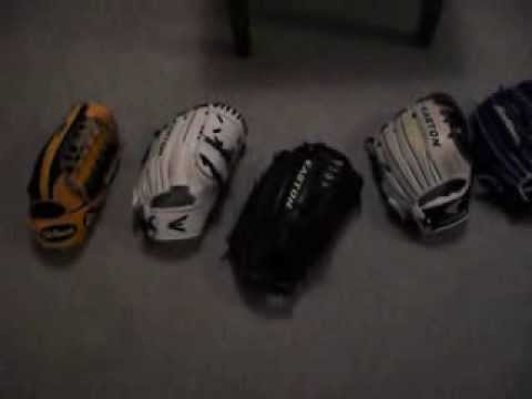 custom easton softball gloves