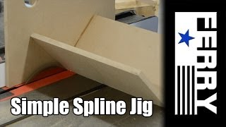 Easy to make woodworking spline jig. Next week I have a project that calls for a spline jig. I don