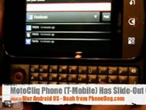 Motorola Cliq & MotoBlur Android OS In-Depth