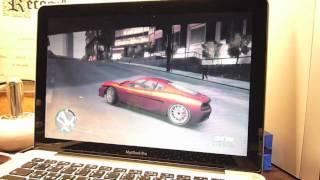 GTA IV Gameplay on a MacBook Pro HD