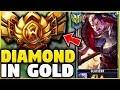 I TOOK MY DARIUS INTO GOLD 5! DIAMOND DARIUS MAIN VS GOLD ELO! - League of Legends