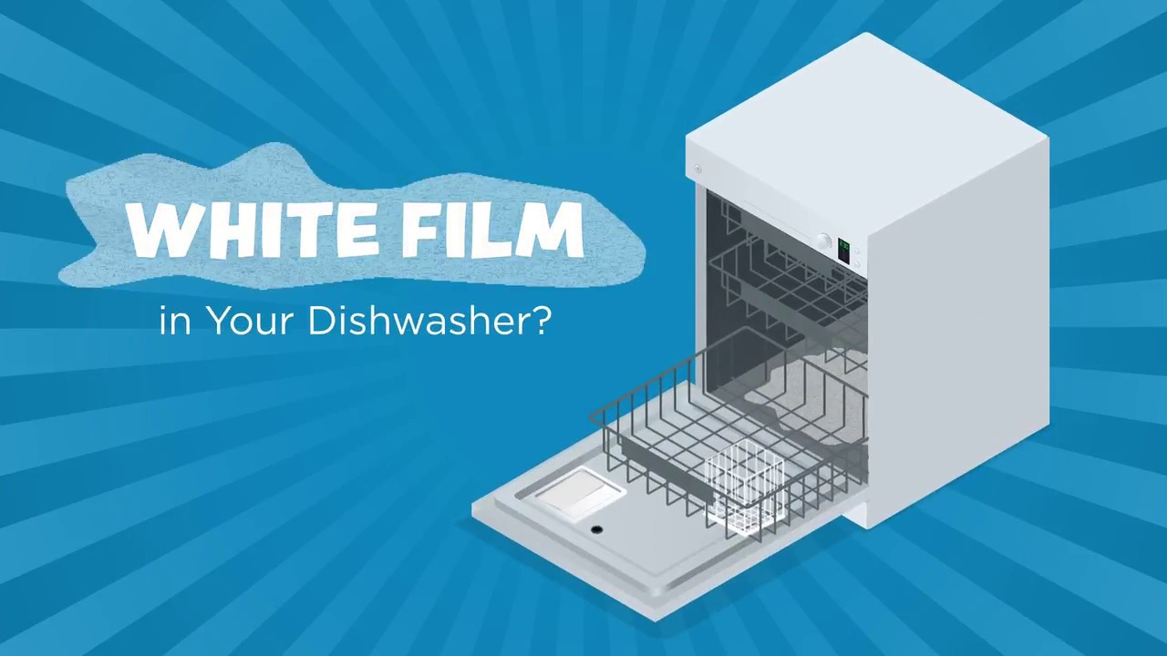 how to remove white film in dishwasher from hard water youtube. Black Bedroom Furniture Sets. Home Design Ideas