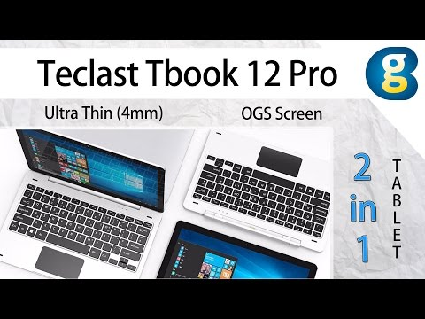 "Teclast Tbook 12 Pro – 12.2"" Ultra Thin (4mm) OGS Screen 2 in 1 Tablet"