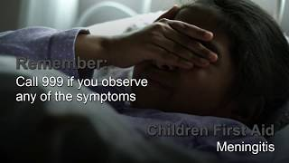 Children First Aid: Meningitis