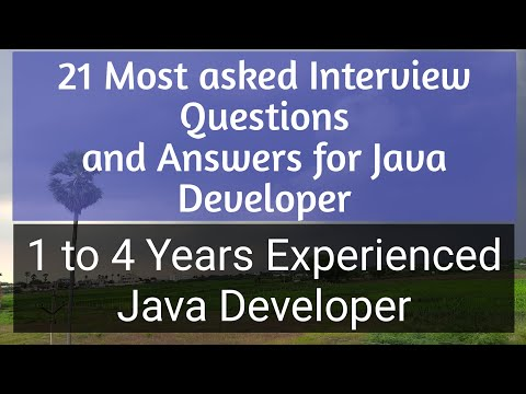 Interview Questions for experienced java developer