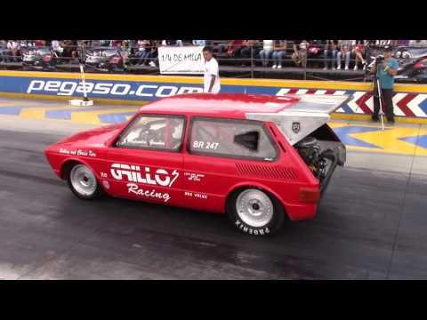 VW brasilia grillos racing VS seat leon cupra pista 1/4 de milla pegaso toluca