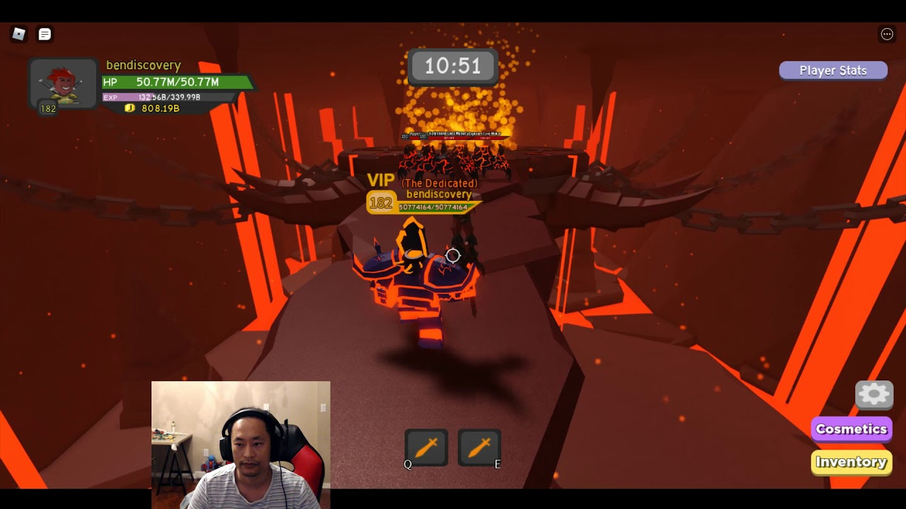 Roblox Dungeon Quest Volcanic Chambers First Boss Fight The Easy