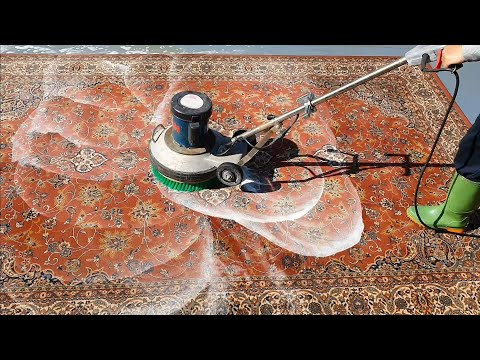 A Dense,colorful Carpet Cleaning Video.