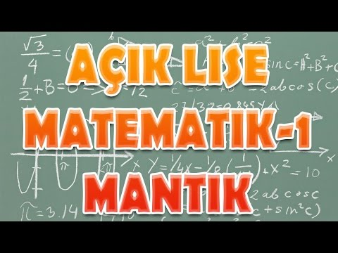 Açık Lise Matematik 1 Mantık