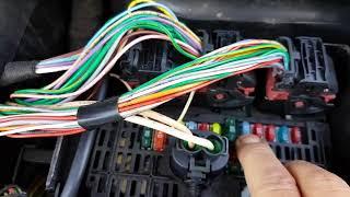 Citroen C4 1 4 not starting P0201 P0202 P0203 P0204 P0443 open circuits Fault finding and repair