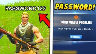I put my PASSWORD in my FORTNITE NAME and danced on everyone.. (Fortnite Battle Royale)