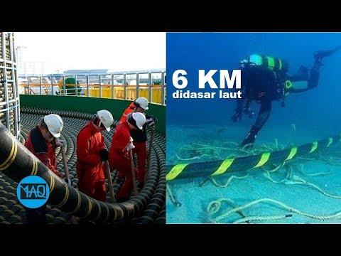 Beginilah Proses Pemasangan Kabel Optik 6 KM di Dasar Laut