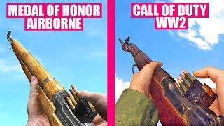 Call of Duty WW2 Gun Sounds vs Medal of Honor Airborne