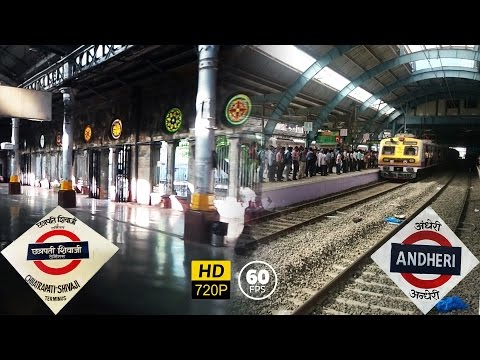40 Minutes: CST to Andheri Harbour Line Full Journey | First on Youtube! | HD 60 fps